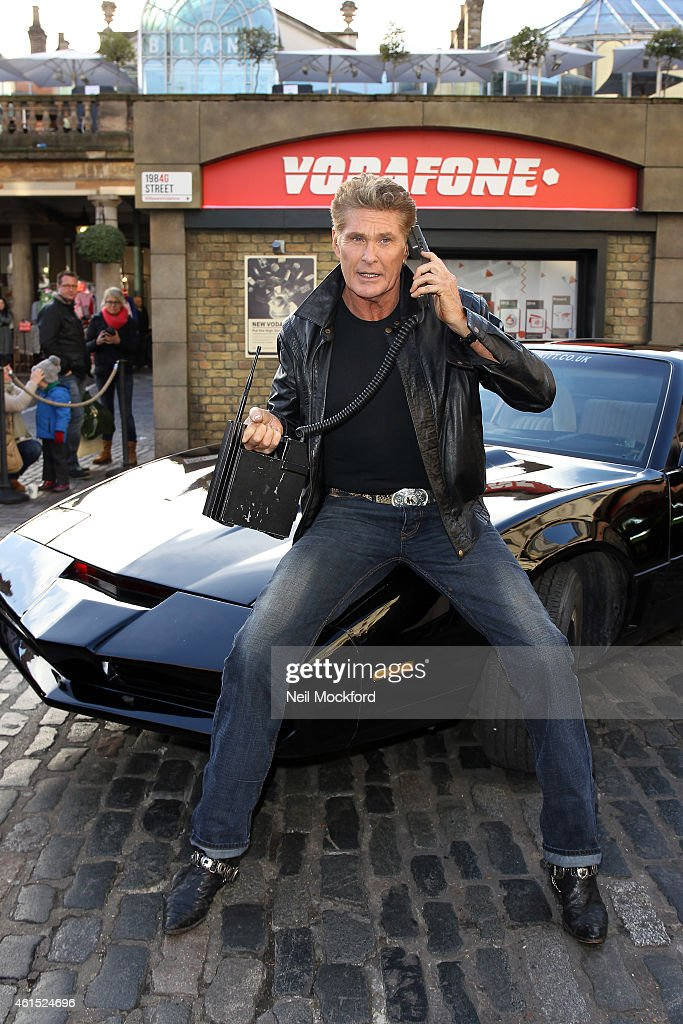 David Hasselhoff & KITT Launch Vodafone's 1984G Street : News Photo