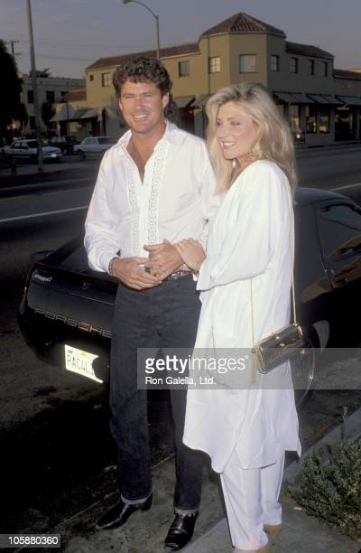 David Hasselhoff and Pamela Bach during Birthday Party for Milton Berle at The Improv in Los Angeles California United States