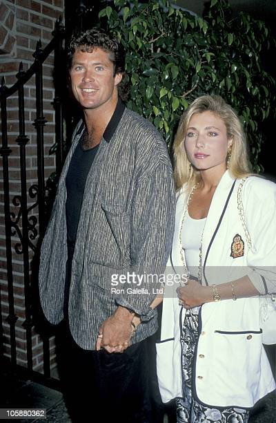 David Hasselhoff and Pamela Bach during David Hasselhoff and Pamela Bach at Kate Mantalini Restaurant at Kate Mantalini Restaurant in Beverly Hills...