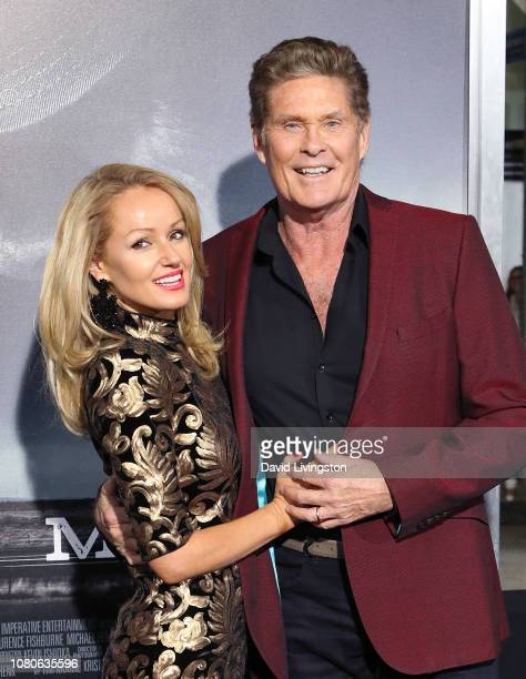 David Hasselhoff and wife Hayley Roberts attend Warner Bros Pictures World Premiere of The Mule at Regency Village Theatre on December 10 2018 in...