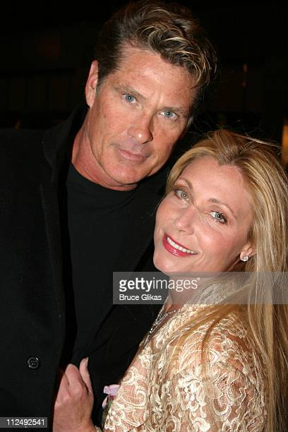 David Hasselhoff and wife Pamela Bach during Opening Night for John Patrick Shanley's 'Doubt' on Broadway at The Walter Kerr Theater and The Supper...