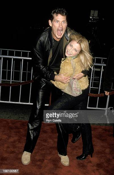 David Hasselhoff and Wife Pamela Bach during 'Vanilla Sky' Los Angeles Premiere at Grauman's Chinese Theatre in Hollywood California United States