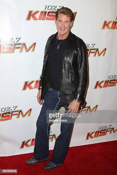 David Hasselhoff arrives at KIIS FM's Wango Tango 2010 at the Staples Center on May 15 2010 in Los Angeles California