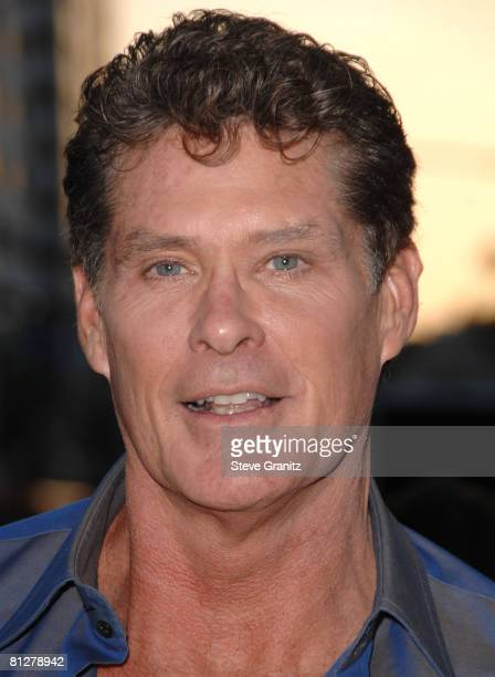 """David Hasselhoff arrives at Sony Pictures Premiere of """"You Don't Mess With the Zohan"""" on May 28, 2008 at the Grauman's Chinese Theatre in Hollywood,..."""