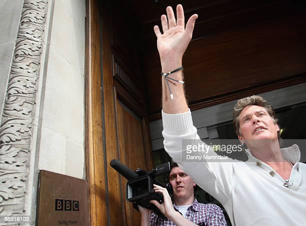David Hasselhoff arrives at the BBC Radio 1 studio on June 16 2009 in London England