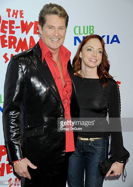 David Hasselhoff arrives at the Opening Night of 'The PeeWee Herman Show' at Club Nokia at LA Live on January 20 2010 in Los Angeles California