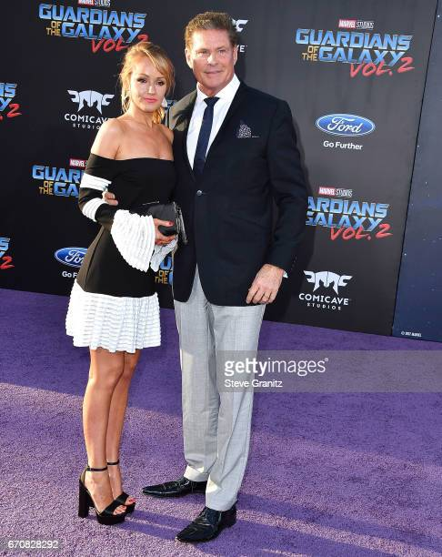 David Hasselhoff arrives at the Premiere Of Disney And Marvel's Guardians Of The Galaxy Vol 2 at Dolby Theatre on April 19 2017 in Hollywood...