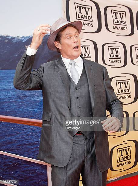 David Hasselhoff arrives to the 8th Annual TV Land Awards held at Sony Pictures Studios on April 17 2010 in Culver City California