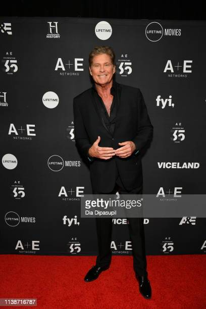 David Hasselhoff attends the 2019 A+E Networks Upfront at Jazz at Lincoln Center on March 27, 2019 in New York City.
