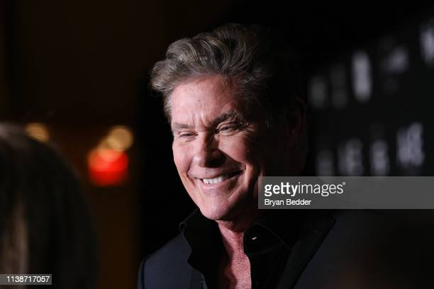 David Hasselhoff attends the 2019 AE Networks Upfront at Jazz at Lincoln Center on March 27 2019 in New York City