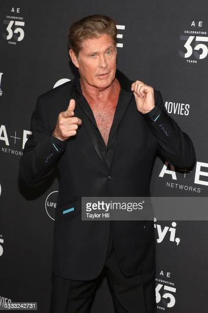 David Hasselhoff attends the 2019 A+E Upfront at Jazz at Lincoln Center on March 27, 2019 in New York City.