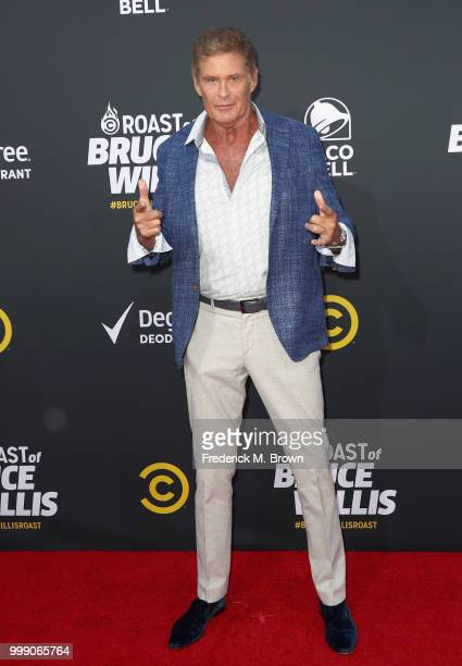 David Hasselhoff attends the Comedy Central Roast of Bruce Willis at Hollywood Palladium on July 14 2018 in Los Angeles California