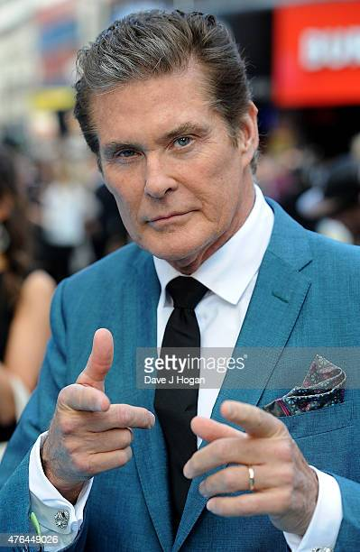 David Hasselhoff attends the European Premiere of 'Entourage' at Vue West End on June 9 2015 in London England
