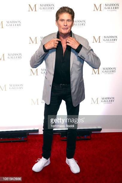 David Hasselhoff attends the Grand Opening Maddox Gallery Los Angeles on October 11 2018 in West Hollywood California