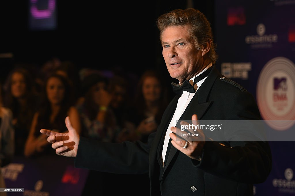 David Hasselhoff attends the MTV EMA's 2014 at The Hydro on November 9, 2014 in Glasgow, Scotland.