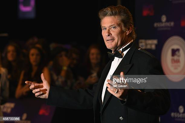David Hasselhoff attends the MTV EMA's 2014 at The Hydro on November 9 2014 in Glasgow Scotland