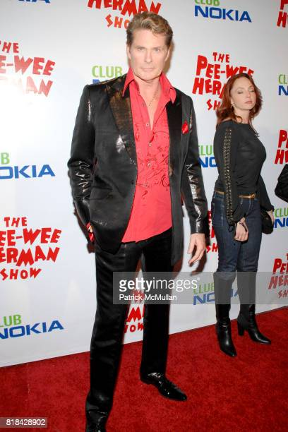 David Hasselhoff attends The Pee Wee Herman Show Opening Night at Club Nokia on January 20 2010 in Los Angeles California