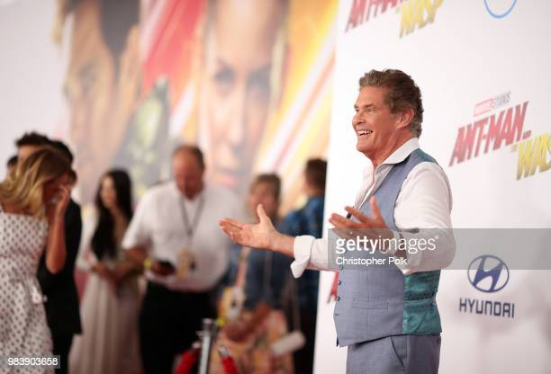 David Hasselhoff attends the premiere of Disney And Marvel's 'AntMan And The Wasp' on June 25 2018 in Los Angeles California