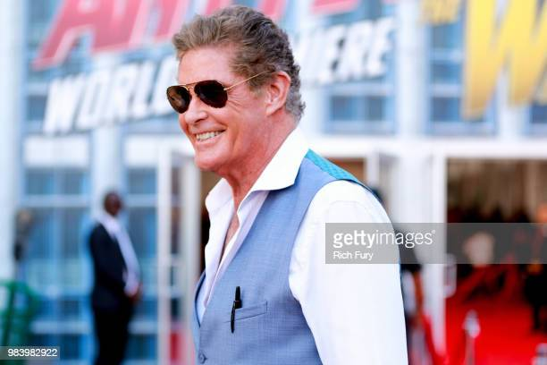 David Hasselhoff attends the premiere of Disney And Marvel's 'AntMan And The Wasp' on June 25 2018 in Hollywood California