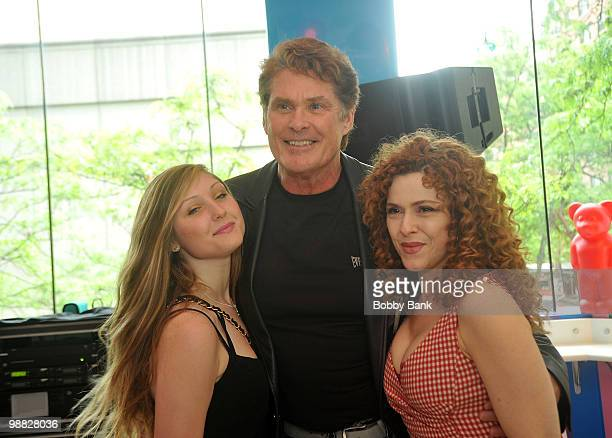 David Hasselhoff daughter Taylor Ann Hasselhoff with author Bernadette Peters promote Stella is a Star at Dylan's Candy Bar on May 3 2010 in New York...