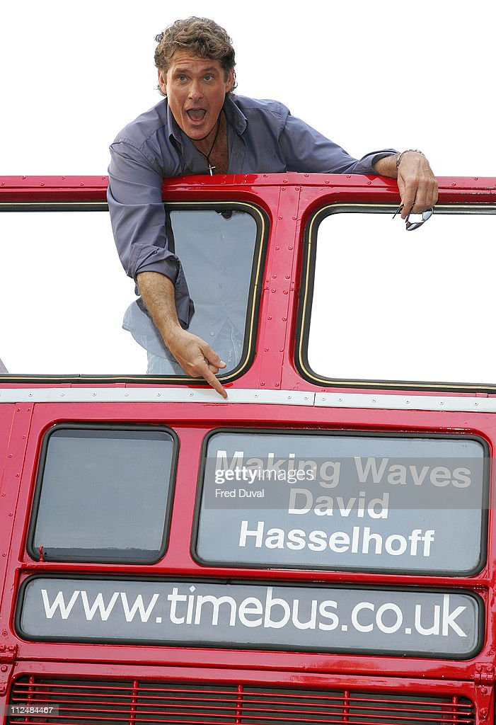 David Hasselhoff during David Hasselhoff Promoting His Book 'Making Waves' on a Double Decker Bus in London - September 15, 2006 at Picadilly in London, Great Britain.