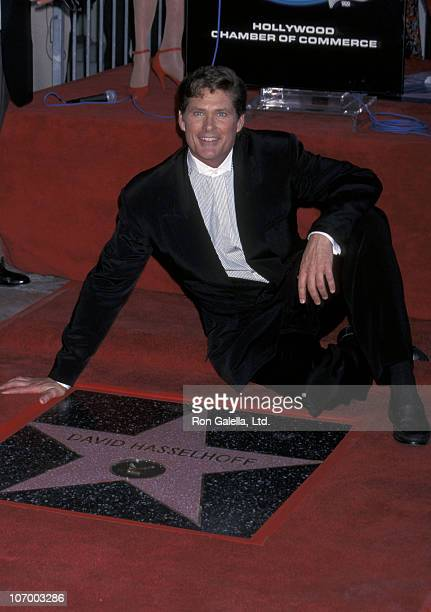 David Hasselhoff during David Hasselhoff Receives A Star on the Walk of Fame at Hollywood Boulevard in Hollywood California United States
