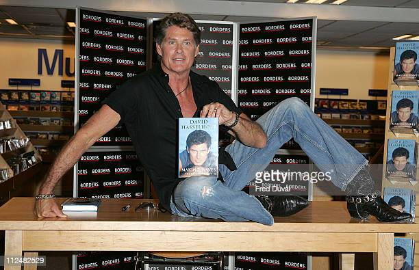 """David Hasselhoff during David Hasselhoff Signs His New Book """"Making Waves"""" at Borders in London, Great Britain."""