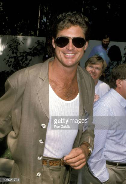 David Hasselhoff during 'Housing Now' Fundraiser at Jean and Casey Kasem's Home in Holmby Hills California United States
