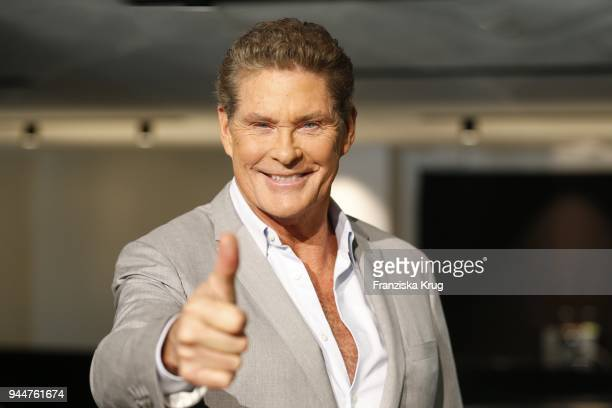 David Hasselhoff during the Looking For Freedom 30 Years Anniversary Celebration In Berlin at FriedrichstadtPalast on April 11 2018 in Berlin Germany