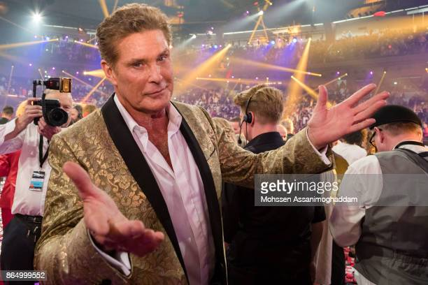 David Hasselhoff during the show 'Das Internationale Schlagerfest' at Westfalenhalle on October 21 2017 in Dortmund Germany