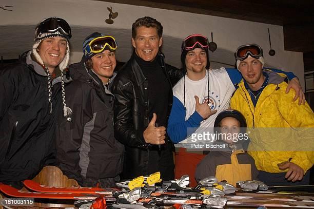 David Hasselhoff Fans ZDFShow Hüttenzauber Seefeld/Tirol/ sterreich Alpen Sänger Skibrille Skier Ski Skigebiet Sportalm Wintersportort Promis...