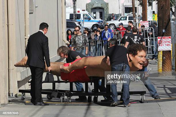 David Hasselhoff figure which was used in the SpongeBob Squarepants movie is seen as it is prepared for auction on April 3 2014 in Los Angeles...