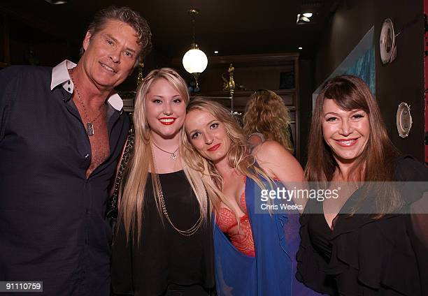 WEST HOLLYWOOD CA SEPTEMBER 23 David Hasselhoff Hayley Hasselhoff an unidentified guest and Carol Malony attend Paris in LA at Coco de Mer on...
