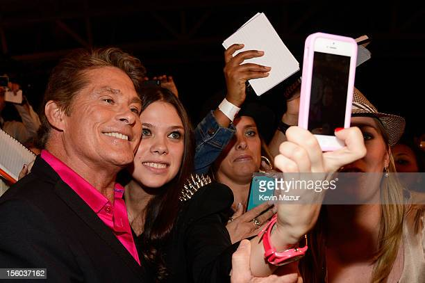 David Hasselhoff meets fans at the MTV EMA's 2012 at Festhalle Frankfurt on November 11 2012 in Frankfurt am Main Germany