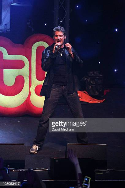 David Hasselhoff performs at The Forum Hertfordshire University on January 14 2011 in London England
