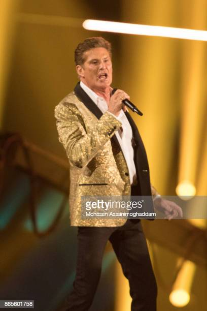 David Hasselhoff performs during the show 'Das Internationale Schlagerfest' at Westfalenhalle on October 21 2017 in Dortmund Germany