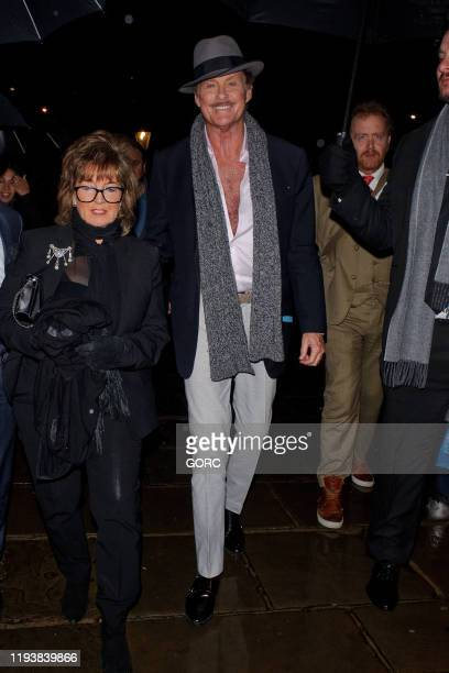 David Hasselhoff seen attending Evgeny Lebedev's Christmas Party at a private North London residence on December 13, 2019 in London, England.