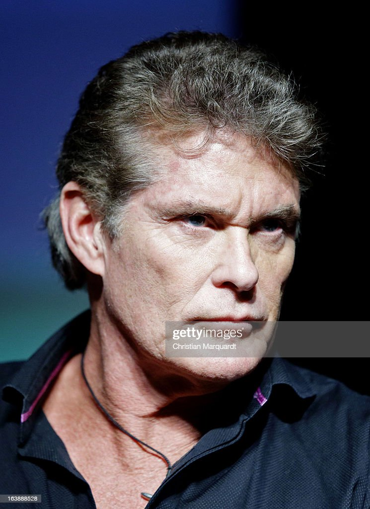 David Hasselhoff speaks to the media during a press conference for a Save the Wall protest at the East Side Gallery on March 17, 2013 in Berlin, Germany. A real estate developer is planning to build a 14-storey apartment building between the East Side Gallery and the Spree River and needs to remove the Wall section in order to allow access to the construction site.