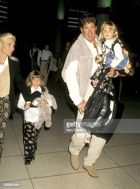 David Hasselhoff Wife Pamela Bach and Daughters Taylor Hasselhoff and Hayley Hasselhoff