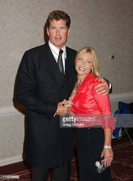 David Hasselhoff Wife Pamela during The 3rd Annual AdoptAMinefield Benefit Gala at Beverly Hilton Hotel in Beverly Hills California United States