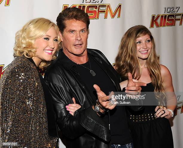 David Hasselhoff with his daughters Hayley Hasselhoff and Taylor Hasselhoff attend KIIS FM's 2010 Wango Tango Concert at Nokia Theatre LA Live on May...