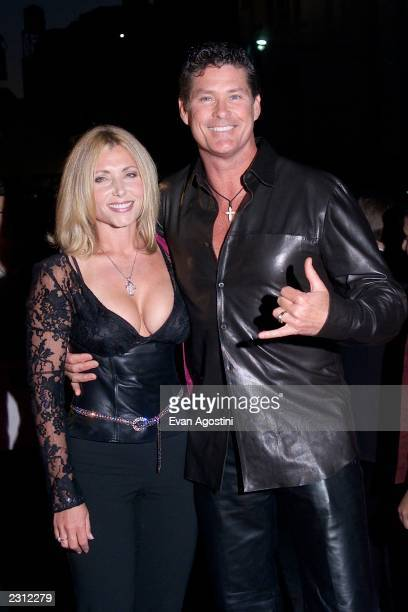 David Hasselhoff with his wife Pamela arrive at the Michael Jackson 30th Anniversary Celebration The Solo Years at Madison Square Garden in New York...
