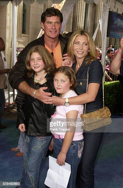 David Hasselhoff with wife Pamela Bach and their children at the premiere of 'Atlantis The Lost Empire'