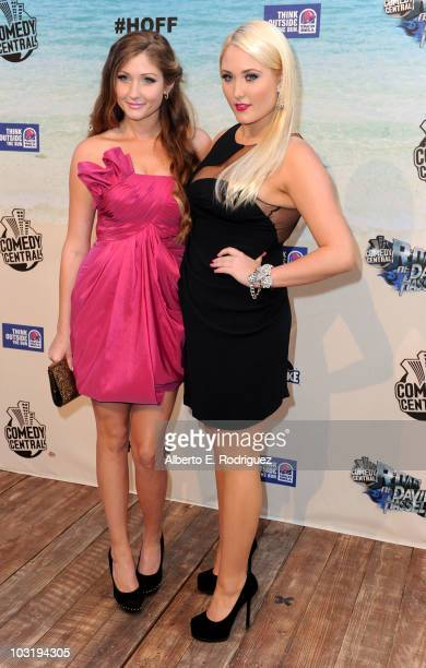David Hasselhoff's daughters Taylor Ann Hasselhoff and Hayley Amber Hasselhoff arrive at the Comedy Central Roast Of David Hasselhoff held at Sony...