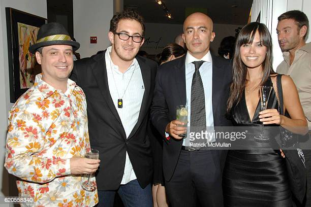 David Hausen Nick Raynes Alex Tahsili and Desiree Dymond attend VILLENCY PURE DESIGN Cocktail Party for BICYCLE FOR A DAY with MATTHEW MODINE at...