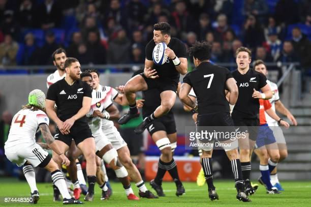 David Havili of New Zealand during the rugby test match between France and New Zealand at Stade des Lumieres on November 14 2017 in Lyon France