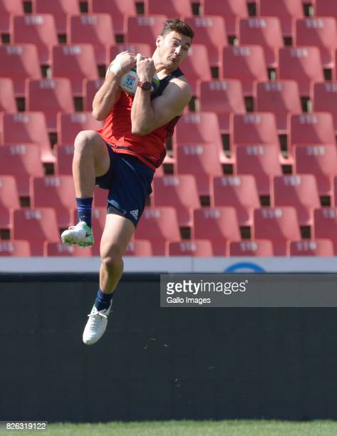 David Havili of the Crusaders during the BNZ Crusaders stadium walkover and kicking practice at Emirates Airline Park on August 04 2017 in...
