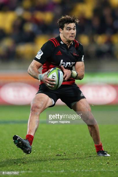 David Havili of the Crusaders in action during the round 17 Super Rugby match between the Hurricanes and the Crusaders at Westpac Stadium on July 15...