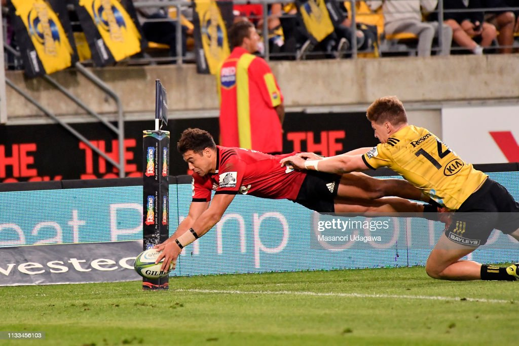 Super Rugby Rd 7 - Hurricanes v Crusaders : News Photo