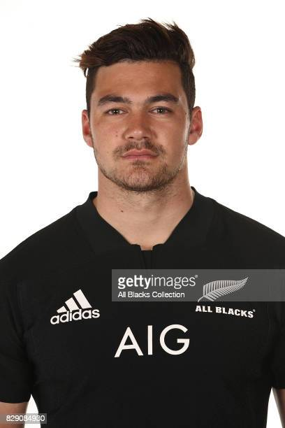 David Havili poses during a New Zealand All Blacks headshots session at The Heritage Hotel on August 10 2017 in Auckland New Zealand
